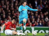 El argentino Lionel Messi, figura del Barcelona.