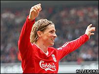 Fernando Torres, goleador del Liverpool