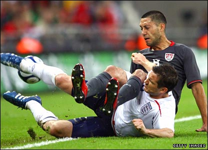 Frank Lampard and Clint Dempsey of the United States