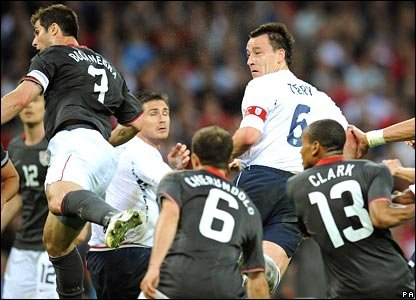 John Terry scores England against the United States
