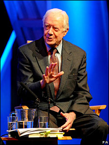 Jimmy Carter at the Hay-on-Wye literary festival, 25 May 2008