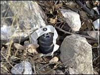 Una bomba de racimo que Israel dejó caer sobre el Líbano