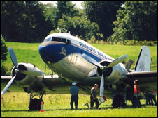 The DC3 used by RAM to deliver medical support