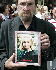 Francis Brichet, father of Elisabeth, murdered at the age of 12 in 1989