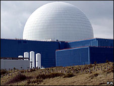 The Sizewell B nuclear plant in Suffolk