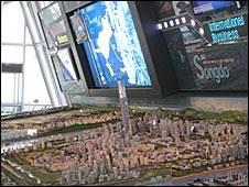 Model of Songdo, South Korea