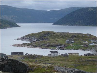 Coastline village, Labrador