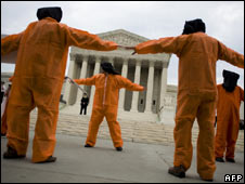 Protest against Guantanamo Bay camp outside US Supreme Court