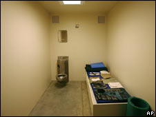 Maximum security cell at Guantanamo Bay