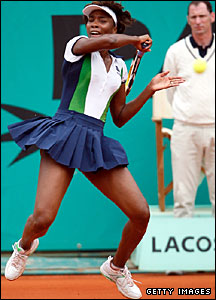 Eighth seed Venus Williams