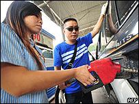 Estaci�n gasolinera en Chengd�