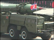 Rocket in North Korean parade