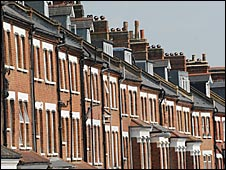 Row of houses in North London