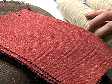 Fabric made from nettle fibre