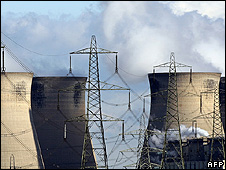 Cooling towers in UK (file pic)