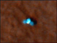 Mars Reconnaissance Orbiter image of Phoenix lander on the Martian surface (Nasa/JPL-Caltech/University of Arizona)