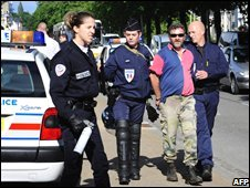 Fisherman arrested during protest in Quimper, Brittany