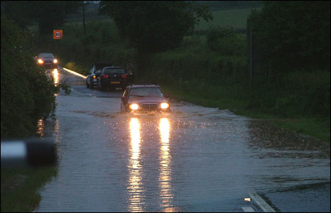 Flooding on the A38 Wellington: Photo: Simon Sparkes