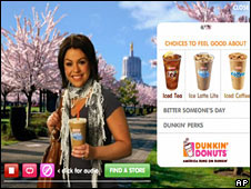 Rachael Ray in a Dunkin' Donuts advertisement