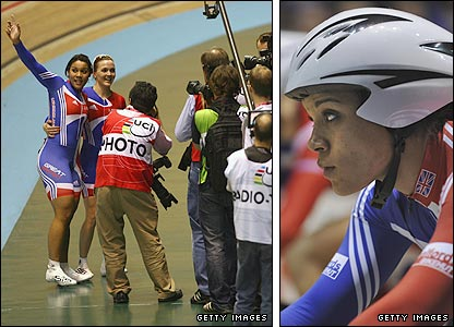 Shanaze Reade and track team-mate Victoria Pendleton