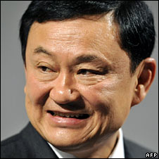 Former leader Thaksin Shinawatra, pictured on 27 May 2008