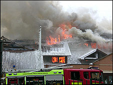 Council office fire (credit Thomas Brightwell)
