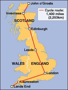 Lands End England Map.Bbc News Uk England Jane S Family Start Epic Journey