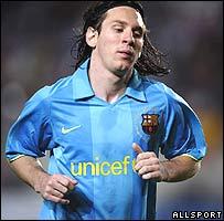 Lionel Messi durante un partido