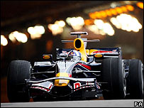 David Coulthard in a practise session in Monte Carlo (Photo: David Davies/PA Wire.)