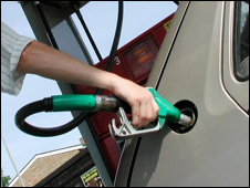 Refuelling a car (file pic)