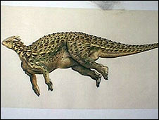 How dinosaur would have looked - picture Bristol Museum