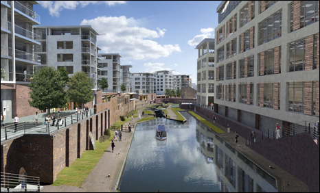 Artist's impressions of how the area could look