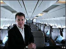 Former Silverjet chief executive Lawrence Hunt
