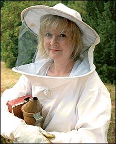 Martha Kearney in her garden (PIC: David Montgomery)