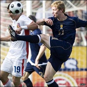Scotland midfielder Barry Robson