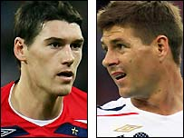 Gareth Barry and Steven Gerrard