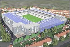 Plan of new stadium for Bristol Rovers FC