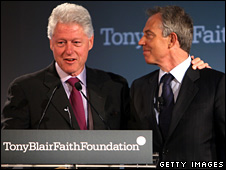 Bill Clinton with Tony Blair