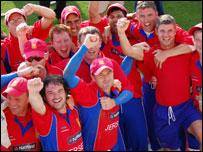Jersey celebrate their win