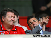 John Toshack and Dean Saunders