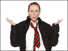 Catherine Tate as teenager Lauren Cooper