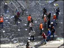 New York crane collapse, photo by Justine Elliott