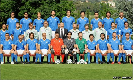 The Italy squad