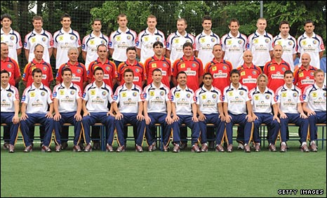 The Romania squad