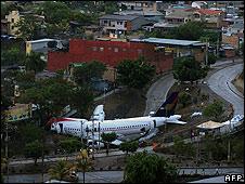 Crash site at Tegucigalpa