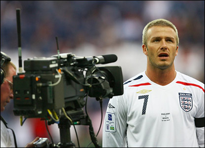David Beckham before England face Brazil