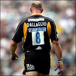 Dallaglio plays his last match for Wasps