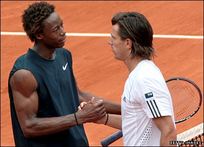 Gael Monfils (left) and Jurgen Melzer (right)