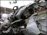 Avión accidentado en Honduras