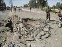 آثار عملية تفجير في العراق